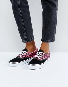 Кроссовки в клетку Vans Era - Черный