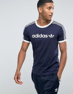 Темно-синяя футболка adidas Originals Adicolor Linear BQ7559 - Темно-синий