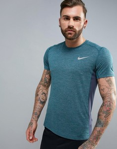Синяя дышащая футболка Nike Running Miler 834241-497 - Синий
