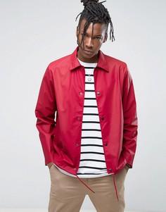 Красная спортивная непромокаемая куртка Rains - Красный