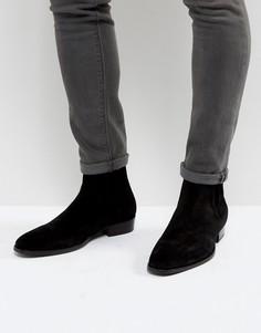 Кожаные ботинки челси AllSaints - Черный