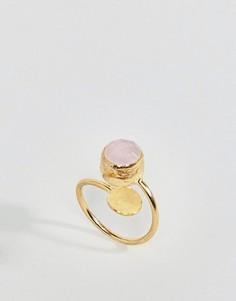Кольцо с розовым кварцем Ottoman Hands - Золотой