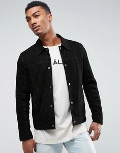 Замшевая куртка Selected Homme - Черный