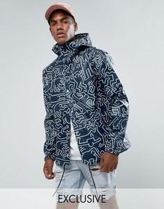Спортивная куртка с принтом и капюшоном эксклюзивно для Herschel Forecast - Темно-синий