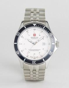 Часы с браслетом из нержавеющей стали Swiss Military - Серебряный