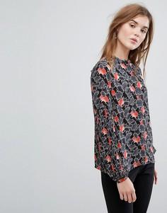 Блузка с цветочным принтом Vila - Черный