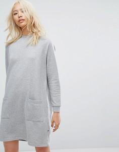 Платье-свитшот с карманом спереди Noisy May - Серый