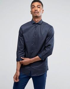 Узкая рубашка Selected Homme - Темно-синий