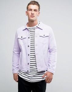 Сиреневая однотонная джинсовая куртка Liquor & Poker - Фиолетовый