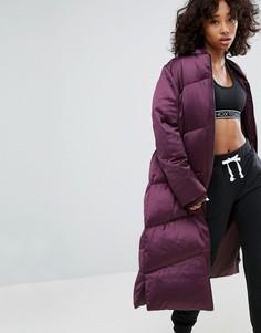 Длинная дутая куртка ASOS - Фиолетовый