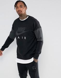 Черный свитшот с круглым вырезом Nike Air 861622-010 - Черный