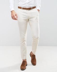 Облегающие льняные брюки Farah Wedding - Светло-серый
