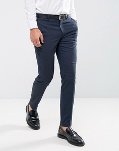 Стретчевые суперзауженные брюки Selected Homme - Темно-синий