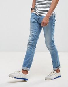Светлые узкие джинсы Nudie Jeans Co Grim Tim - Синий