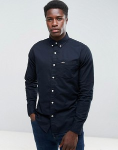 Черная узка оксфордская рубашка Hollister - Черный
