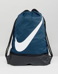 Темно-синяя спортивная сумка-мешок Nike BA5424-454 - Темно-синий