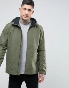 Зеленая нейлоновая куртка на молнии с капюшоном Farah Newbern - Зеленый