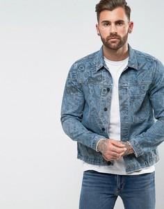 Джинсовая куртка с принтом Levis Line 8 - Синий