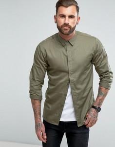 Узкая рубашка со вставками Another Influence - Зеленый