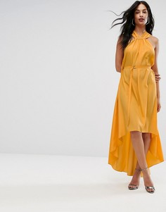 Платье-халтер макси с отделкой AQ AQ - Желтый