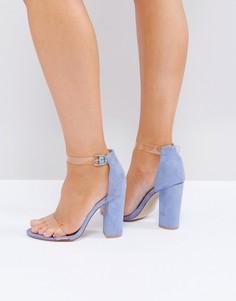 Босоножки для широкой стопы на блочном каблуке Truffle Collection - Синий