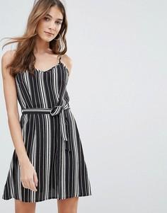Платье-комбинация в полоску QED London - Черный