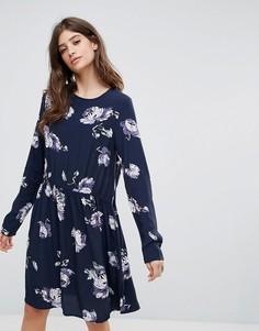 Платье с принтом Pieces Ariel - Синий