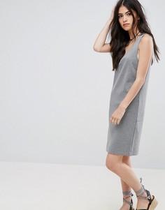 Платье с V-образным вырезом Vila - Серый