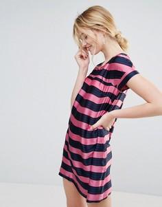 Платье А-силуэта в полоску Traffic People - Розовый
