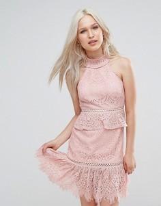 Короткое приталенное платье с кисточками Foxiedox Rosewater - Мульти