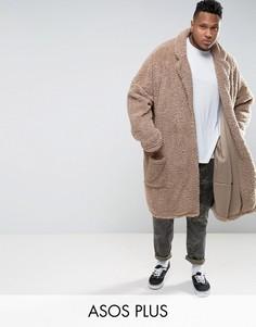 Oversize-пальто ASOS PLUS - Бежевый
