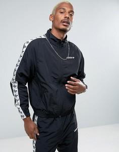 Черная спортивная куртка с кантом adidas Originals Adicolor TNT BR2290 - Черный