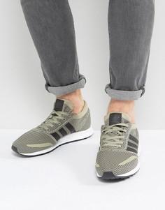 Бежевые кроссовки adidas Originals Los Angeles - Бежевый