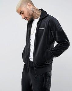 Черная велюровая спортивная куртка adidas Originals CLR84 BS4662 - Черный