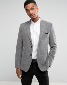 Узкий блейзер Burton Menswear - Серый