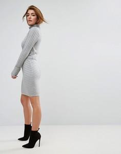Комбинируемая мини-юбка с декоративными швами ASOS - Серый
