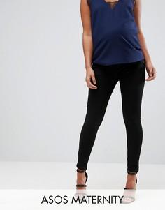 Черные джинсы премиум ASOS MATERNITY SCULPT ME - Черный