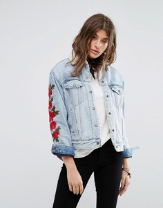 Куртка с вышивкой и воротником и подкладкой из искусственного меха Levis Authentic - Синий Levis®