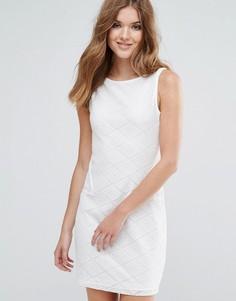 Свободное платье без рукавов с карманом Lavand - Белый
