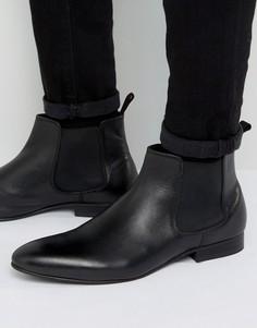 Черные кожаные ботинки челси Dune Mister - Черный