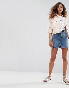Синяя джинсовая мини-юбка ASOS - Синий