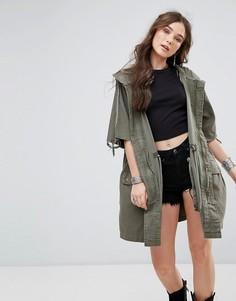 Куртка в стиле милитари Free People - Зеленый