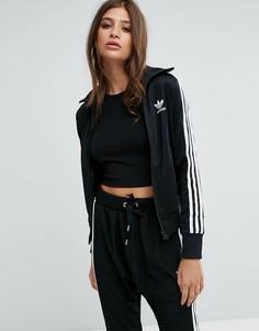 Спортивная куртка с тремя полосами adidas Originаls Firebird - Черный