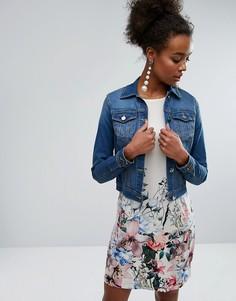 Выбеленная джинсовая куртка Lipsy - Синий