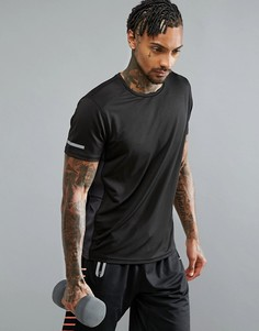 Спортивная футболка с круглым вырезом Threadbare Active - Черный
