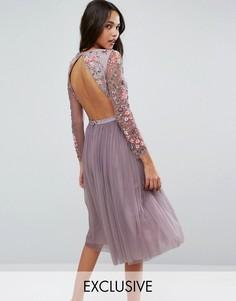 Платье миди из тюля Needle & Thread - Фиолетовый