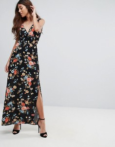 Платье макси с высоким разрезом Oh My Love - Мульти