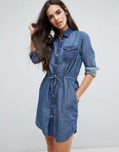 Джинсовое платье-рубашка G-Star - Синий