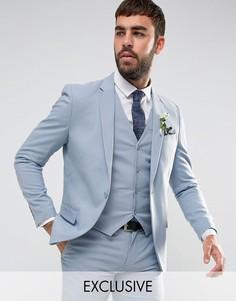 Зауженный пиджак Only & Sons Wedding - Синий