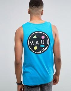 Майка с логотипом Maui Cookie - Синий